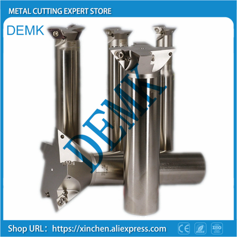 Dovetail Groove Milling Cutter 25mm-80mm Carbide Indexable Milling Cutter Slot Milling Cutter For DCMT070204 Or DCMT11T304