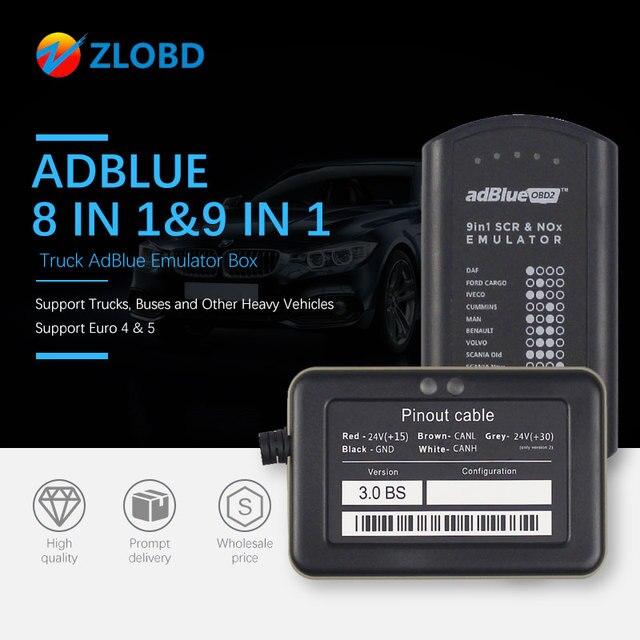 Adblue 8in1 شاحنة Adblue محاكي 8 في 1 دعم Euro4 و 5 أفضل جودة Adblue مع NOx الاستشعار 3.0 جهاز adblue 9 في 1