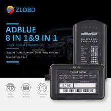 Adblue emulador 8 em 1 para caminhão, suporte euro 4 & 5, melhor qualidade adblue com sensor de nox 3.0 dispositivo adblue 9 em 1