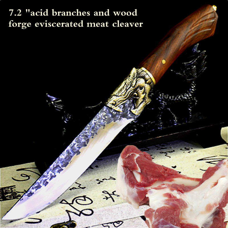 Hand Forged Butcher Knife Boning Knife Sharp Fruit Knife Ghost Hand Made Retro Kitchen Knife Household Small Knives