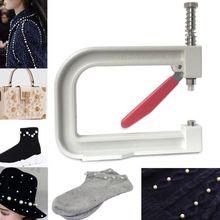 Manual White Pearl Beads Hand Press Pearl Setting Machine Jewelry Making Tools
