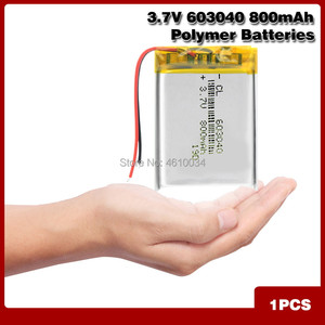 603040 Li Ion Polymer 800mah Battery 3.7 V Rechargeable 800mah Lipo Lithium Batteries With Pcb Protection