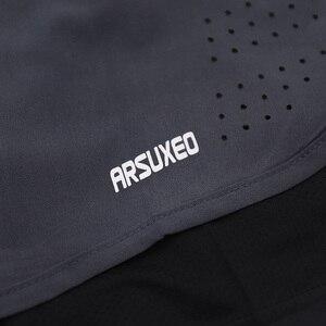 Image 5 - ARSUXEO męskie spodenki do biegania 2 w 1 szybkie suche spodenki sportowe trening lekkoatletyczny krótkie spodnie do ćwiczeń spodenki gimnastyczne ubrania do ćwiczeń B179