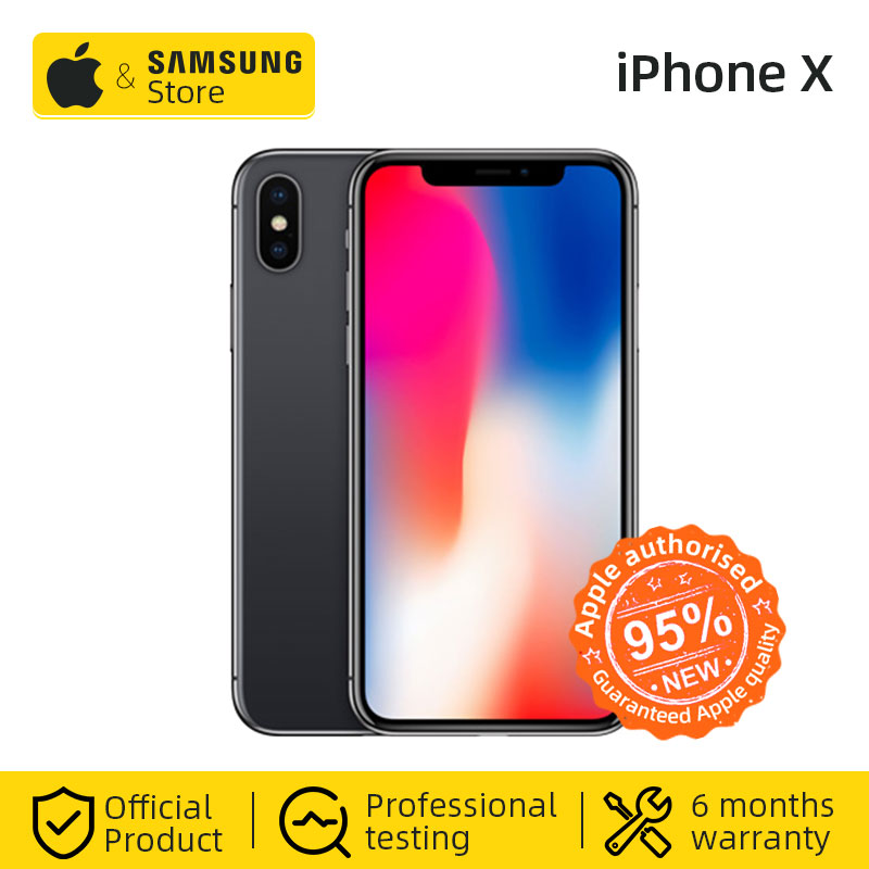 Original Unlocke Apple IPhone X 256GB ROM Hexa Core IOS A11 5.8 Inch 12MP Dual Back Camera 4G LTE Face ID NFC (Used 95% New)