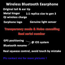 ANC bluetooth earphone wireless noise cancelling transparency serial number i3 tws pro i900000 air gen 3 ios v4.0 max 35db 1562a(China)
