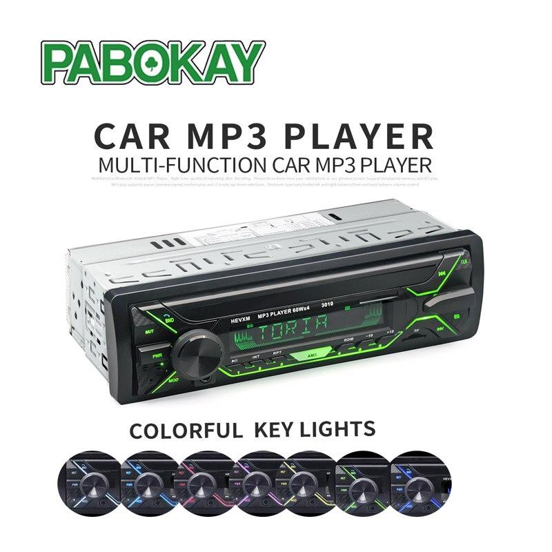 Car Radio 1din Autoradio Aux Input Receiver Bluetooth Stereo  MP3 Multimedia Player Support FM/MP3/WMA/USB/SD Card