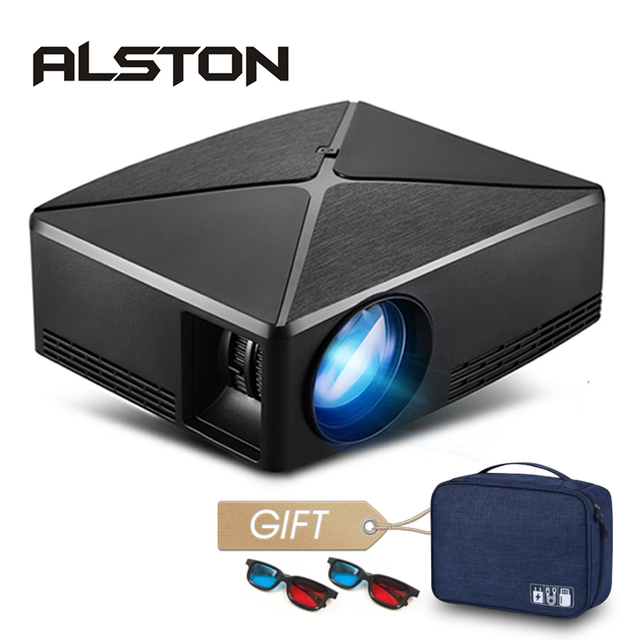 ALSTON HD MINI Projector C80/C80UP, 1280x720 Resolution, Android WIFI Proyector, LED Portable HD Beamer for Home Cinema