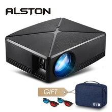 ALSTON Proyector MINI HD C80/C80UP, 1280x720 de resolución, Proyector WIFI Android, LED, portátil, para cine en casa