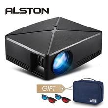 אלסטון HD מיני מקרן C80/C80UP, 1280x720 רזולוציה, אנדרואיד WIFI Proyector, LED נייד HD מקרן לקולנוע ביתי
