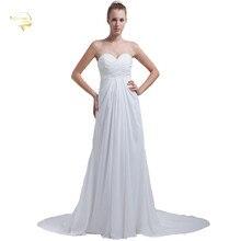 Jeanne Love Chiffon Fashion Wedding Dress Luxury Vestido De Noiva Bridal Gown Beach Dresses Casamento 2016 JL01219