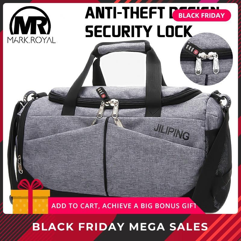 MARKROYAL Nylon Men Multifunction Travel Bag Anti-theft Male Travel Bags Carry On Hand Luggage Multiple Pockets Travel Handbags