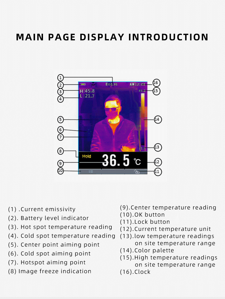 Infrared Thermal Camera With Live Streaming to Computer or TV Bluetooth For Human Body 32