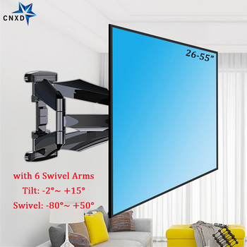 TV Wall Mounts TV Bracket for Most 26-55 Inch Flat Screen Full Motion with Swivel Articulating Dual Arms Max VESA 400x400mm dl d 103st 23 55 50 vesa 400x400 50kg full motion 6 arm adjustable arm tv bracket lcd wall mount led stand swivel