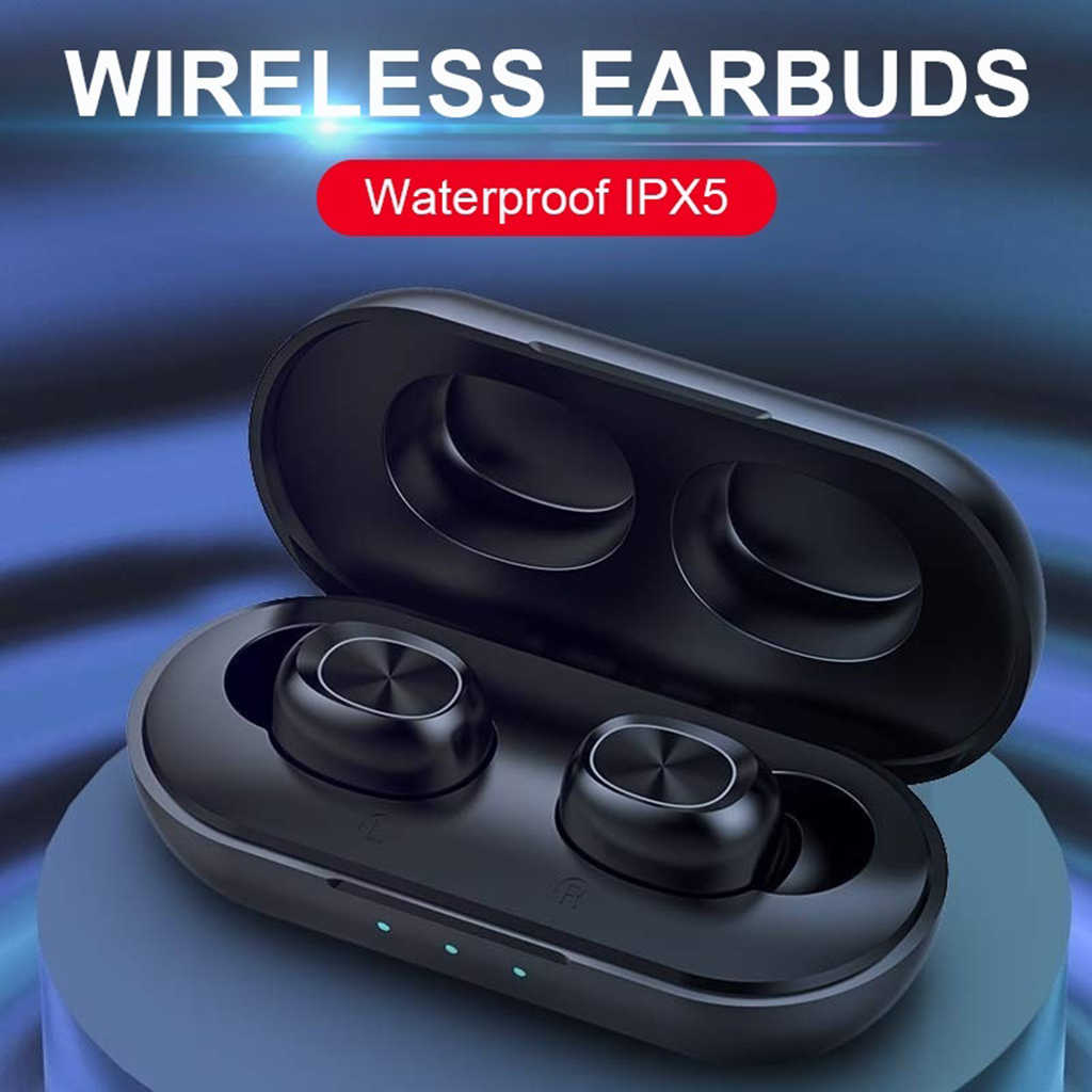 B5 Tws Sentuhan Sidik Jari Bluetooth Earphone Hi Fi Stereo Nirkabel Headset Kebisingan Membatalkan Gaming Headphone dengan Mikrofon