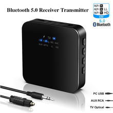 Bluetooth Audio Transceiver Adapter 3.5mm AUX RCA Jack Hifi Wireless Adapter & Microphone Handsfree Call for Car home stereo TV(China)