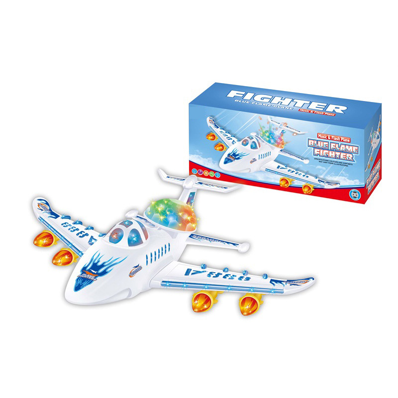 Large Size Children Electric Plane Toy With Light And Music Universal Air Bus Aircraft Model Toy