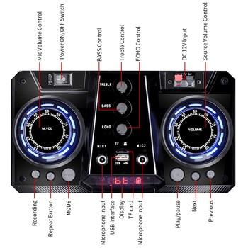 Shinco Portable Bluetooth Karaoke DJ Speaker System High Power 12-inch Woofer Trolley Speaker with Wireless Microphone 6
