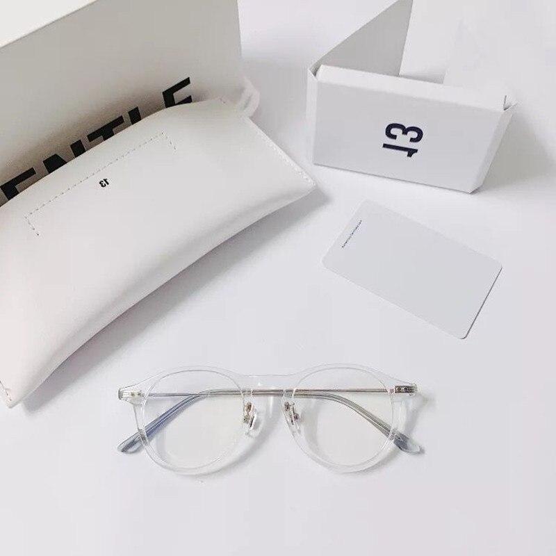 Ретро Круглые ацетатные оправы для очков, мужские Оптические очки ручной работы, женские и мужские очки для близорукости, очки для чтения, ...
