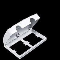 Elektrische Wasserdichte Box Wand Montieren Stecker Abdeckung Outlet Haushalt Büro Durable Schalter Kind Sicherheit Baby Doppel Buchse Schutz