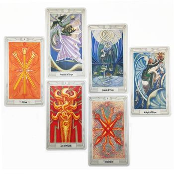 Thoth Tarot 78 Cards Deck Mysterious Divination Oracle Playing Card Board Game 24BD недорого