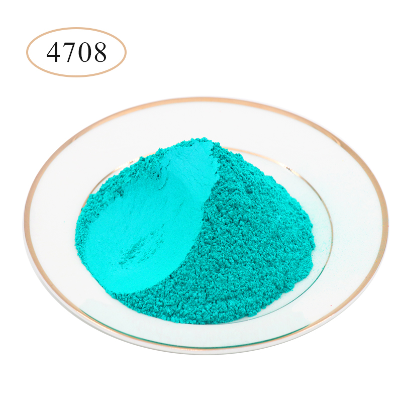 Pearl Powder Pigment Mineral Mica Powder Type 4708 Green Blue For Car Dye Colorant Soap Nail Automotive Arts Craft Acrylic Paint