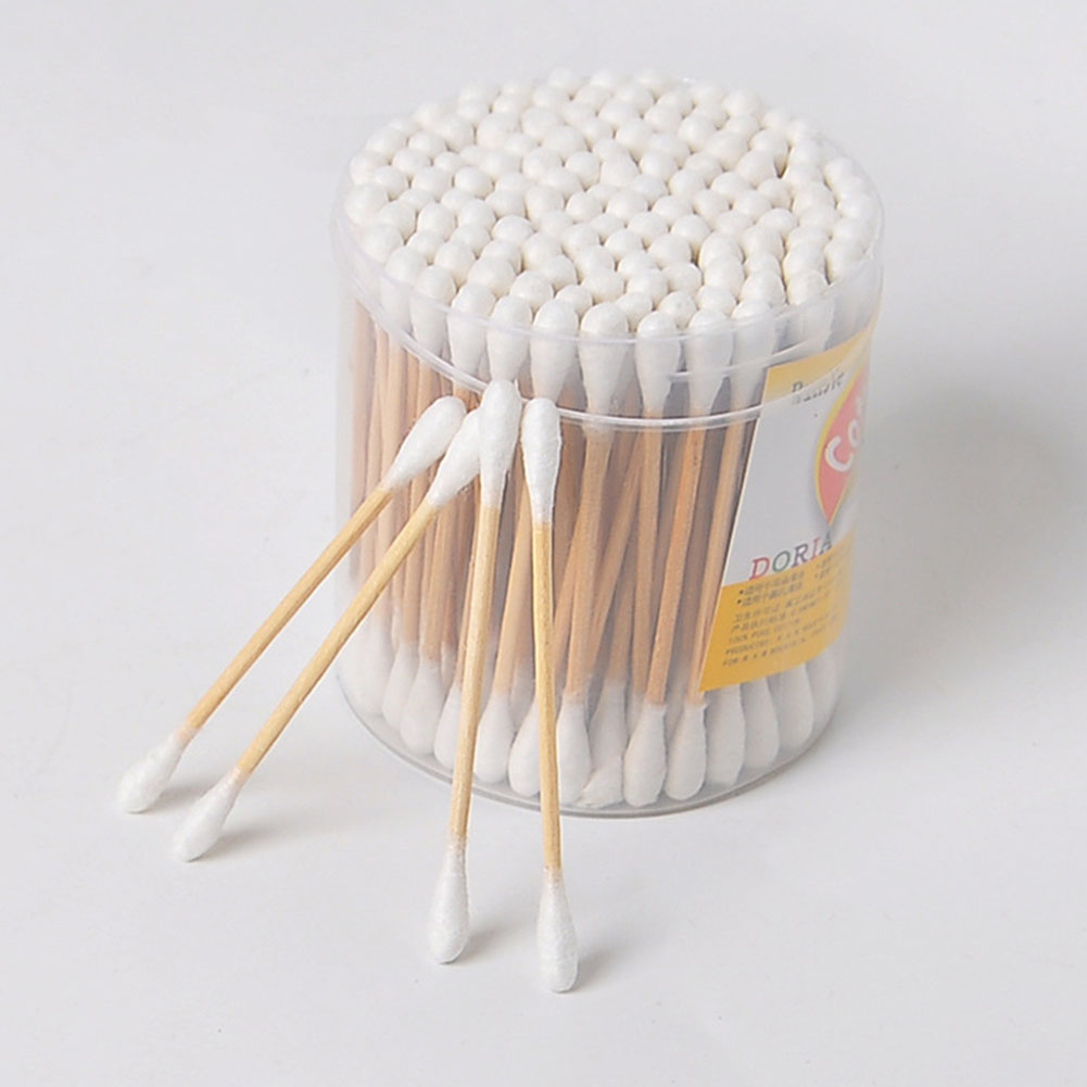 Cleaning Ear Tool Q Tip Eyelash Makeup Remover Nose Wooden Handle Cosmetic Double Head Disposable Sterile Applicator Cotton Swab
