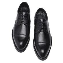 2020 גברים שמלת נעלי בעבודת יד בסגנון בריטי Paty עור חתונה נעלי עסקי גברים עור נעלי אוקספורד נעליים רשמיות