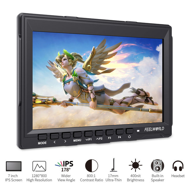 FEELWORLD 7 inch Portable LCD HD Gaming Monitor 4K HDMI IPS HD Screen Display Game Monitors for XBOX  3