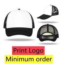 1 PCS Custom Logo Baseball Cap Advertising Hat Adult Child Personality DIY Design Trucker Hat Blank Mesh Cap Men Women 42 Colors