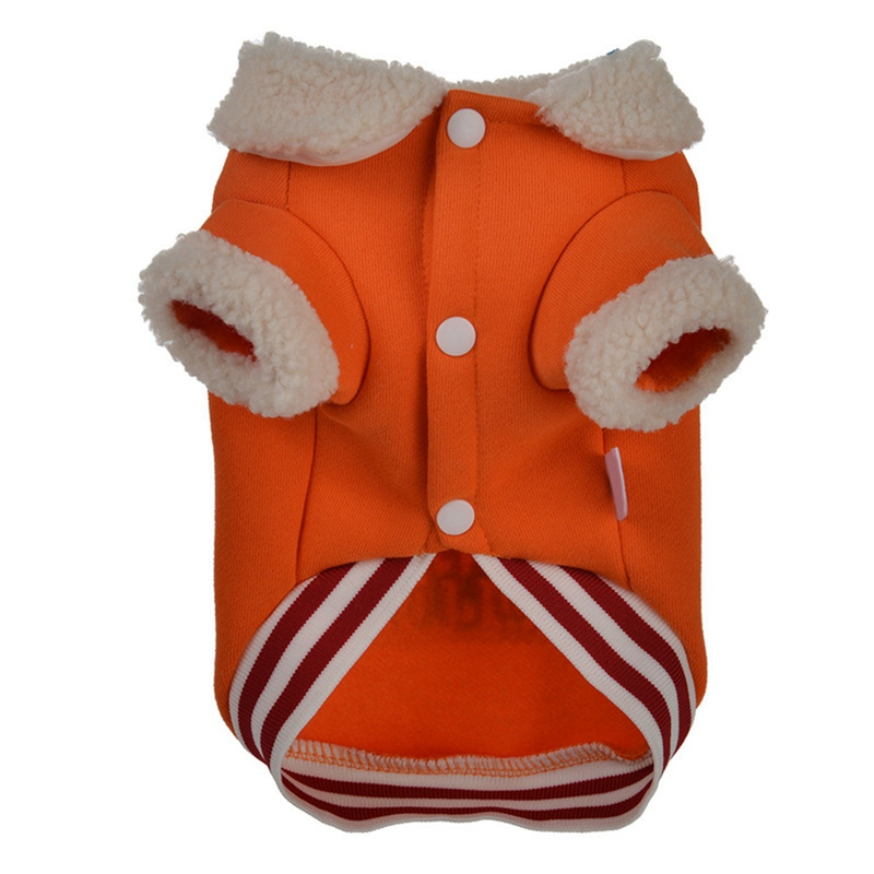 Pet Christmas Cute Button Warm Jacket Small And Medium Dogs Autumn And Winter 2-legged Coat Pd
