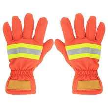 2 pces à prova de fogo à prova de fogo luvas de combate ao fogo resistente ao calor impermeável respirável anti-estática bombeiro mão proteção