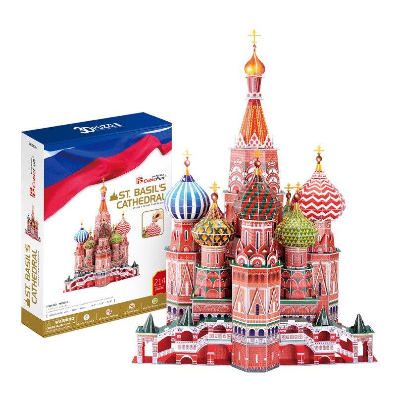 Cubicfun 3D Jigsaw Puzzle Model City Microcosm Church London Dubai Singapore Paris 3D Paper Film
