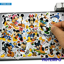 50pcs Cute Minnie Mickey Anime Stickers font b Toys b font for Children Kids Scrapbook Stationery