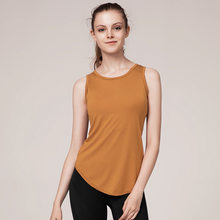 New irregular lady vest women solid color ladies exercise vest lady suit(China)