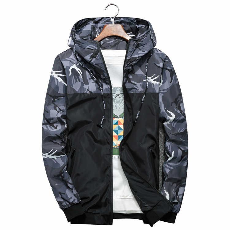 Sonbahar Erkekler Hip Hop Slim Fit Ceket Erkekler Çiçek Bombacı Ceket Kamuflaj Fermuar Rüzgarlık Erkekler Kapşonlu İnce Ceketler Artı Boyutu 6XL
