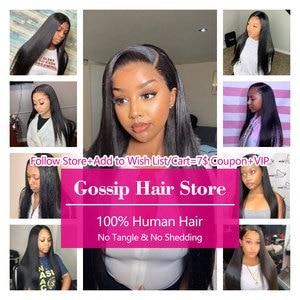 Image 4 - Straight Hair Bundles Brazilian Hair Weave Bundles 100% Human Hair Bundles Gossip Remy Hair Weave 1/3/4 Bundles Hair Extension