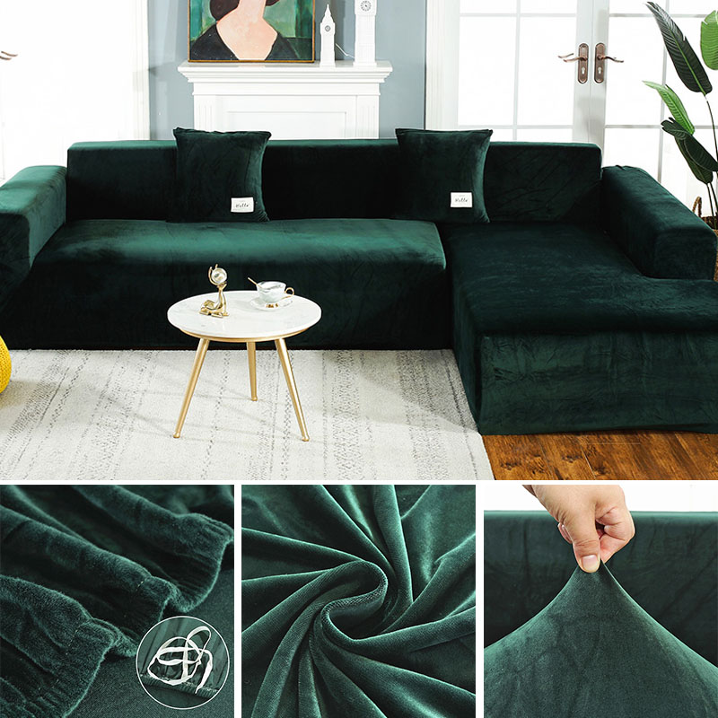 Elastic Sofa Cover For Plush Fabric Universal Stretch Slipcover Couch Cover For Living Room Sofa Towel Slip-resistant Slipcover