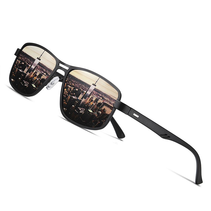 AOFLY Brand 2020 Fashion Sunglasses Men Polarized Square Metal Frame Male Sun Glasses Driving Fishing Eyewear zonnebril heren|Men