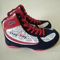 Wrestling Shoes Men Women Competition Wrestling Shoes Black White Red Martial Art Shoes