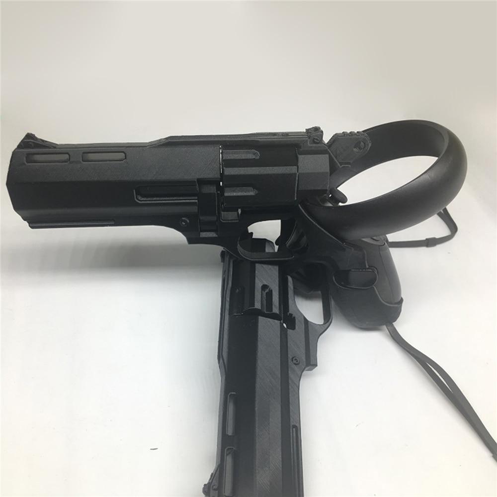 For Oculus Quest / Rift S VR Touch Controller Grips Game Shooting Gun Left & Right Revolver Shooting Model Gun Accessories