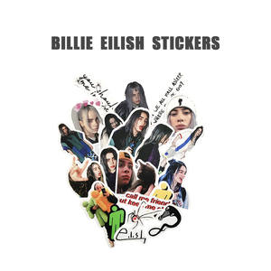 Waterproof Stickers Luggage Scooter Travel Billie Eilish Laptop Motorcycle Bike Car Doodling