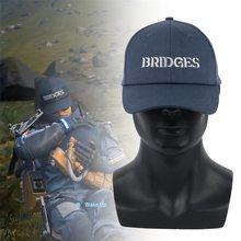 Jogo morte stranding cosplay chapéu sam azul pontes bordado boné de beisebol ajustável