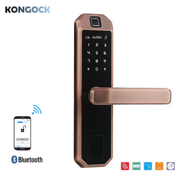 Bluetooth APP Fingerprint smart door lock, electronic digital password card lock for home and hotel and apartment etc