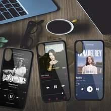 Funda de teléfono con patrón de canciones de Lana Del Rey, carcasa de alta calidad para iPhone 11, 12 pro, XS MAX, 8, 7, 6S Plus, X, 5S, SE, 2020, XR