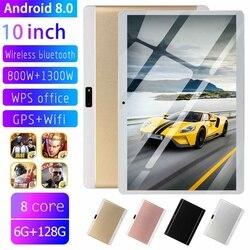 6 + 128 Gb 9000 Mah 10.1 Inch Hd Tablet Pc Dual Camera/Sims Octa Cores 3G Oproep tab Gps Wifi Bluetooth 4.0 Pad Android 8.0 Tab