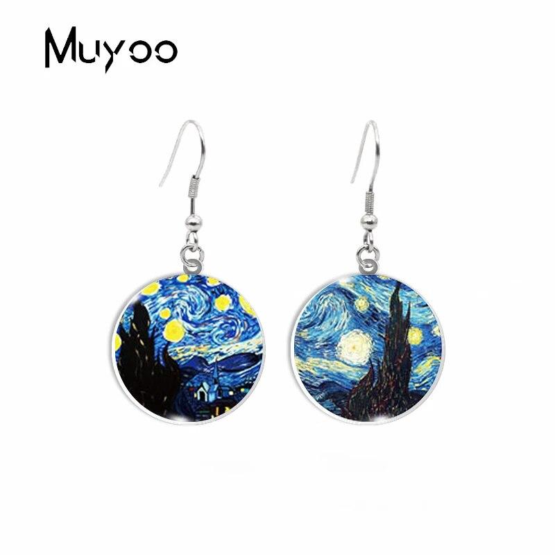 Pendientes hecho con genuino cristal de mar del Mediterr\u00e1neo hecho a mano exclusivo.