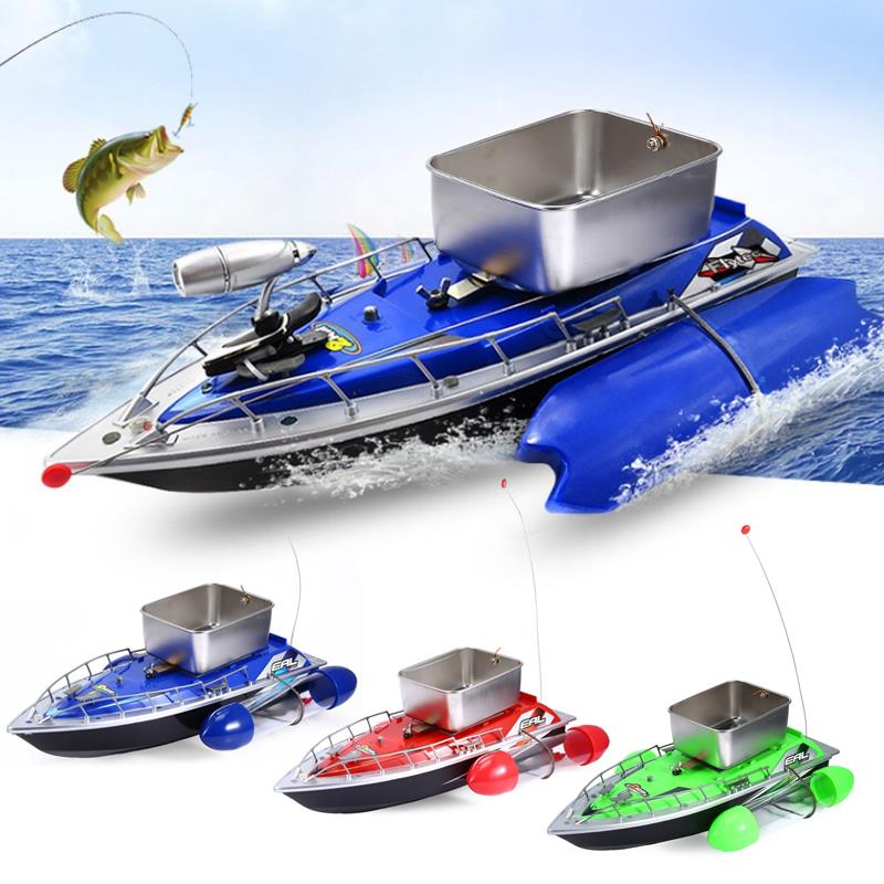 Remote Control Fishing Bait Boat Outdoor Feeding Particles Tackle Plastic Alloy LED Sea Toys Fish Finder Water Beach