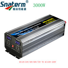PURE Sine WAVE Power INVERTER 3000W DC12/24/48/60/72V to AC220/230/240V 50HZ60HZ off Grid อินเวอร์เตอร์ AC Charger UPS Function(China)
