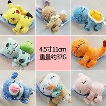 Takara Tomy Plush Doll New Pokemon Eevee Pikachu Squirtle Charmander Venusaur Mewtwo Soft Toys Sleeping Animal 10cm 24pcs/set