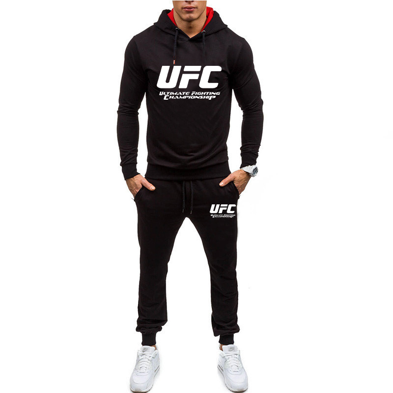 2019 New  Tracksuit Men's Solid Sets Casual Sports Suit Spring Autumn Men Sportswear Fashion Hoodie+Pants Training Suit